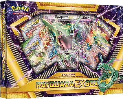 Pokemon TCG Rayquaza EX Collection Box: Amazon.es: Juguetes y juegos