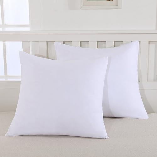 Mohap Lot de 2- Taies d'oreiller 65x65cm Blanc Housse d'oreiller avec Une Fermeture Eclair en Microfibre