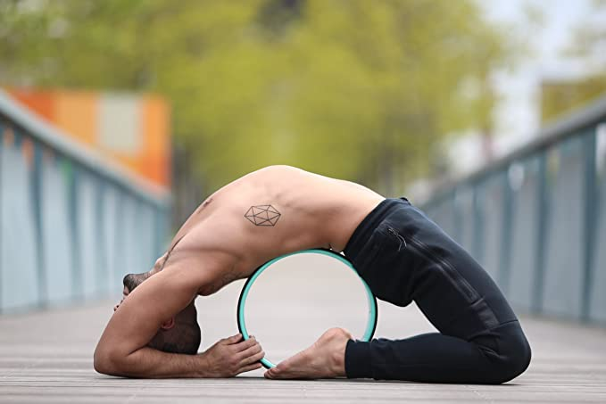 Dharma Yoga Wheel BASIC Eco-Nomical | Relieves Pain and Stress in your Back, Hips, Chest, and Shoulders | 100% Satisfaction Guarantee