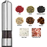 Envohap Stainless Steel Electric Pepper Grinder with Light Adjustable Ceramic Plate 1pce