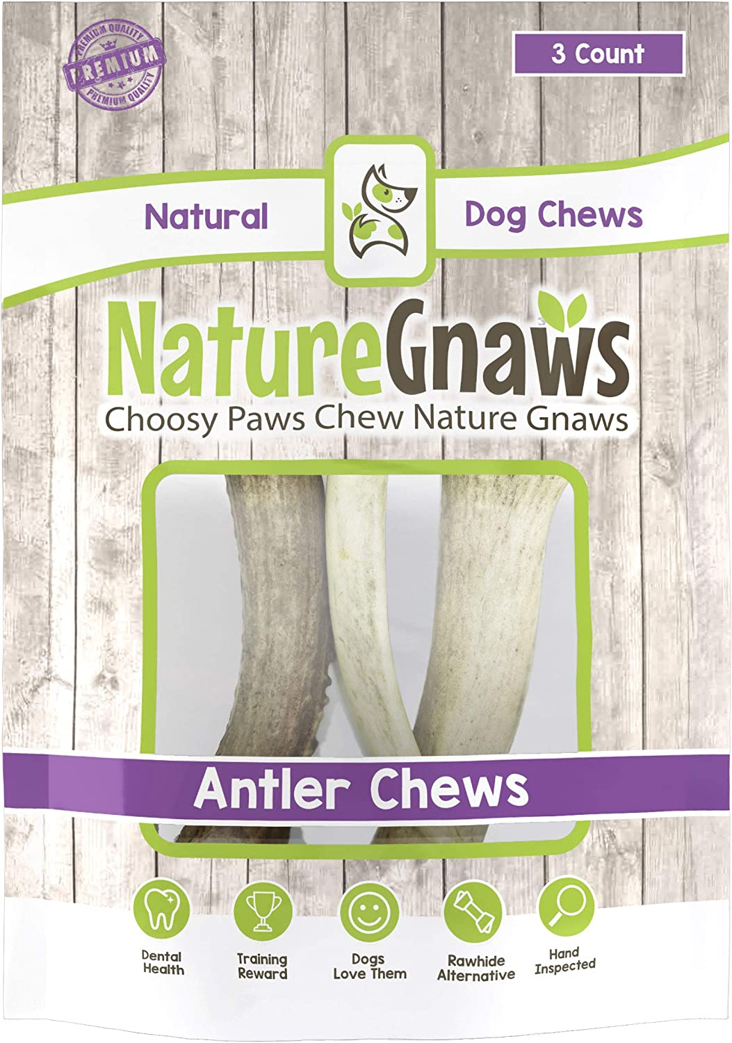 Nature Gnaws USA Deer Antlers 4-5 – 100 Natural Dog Chews
