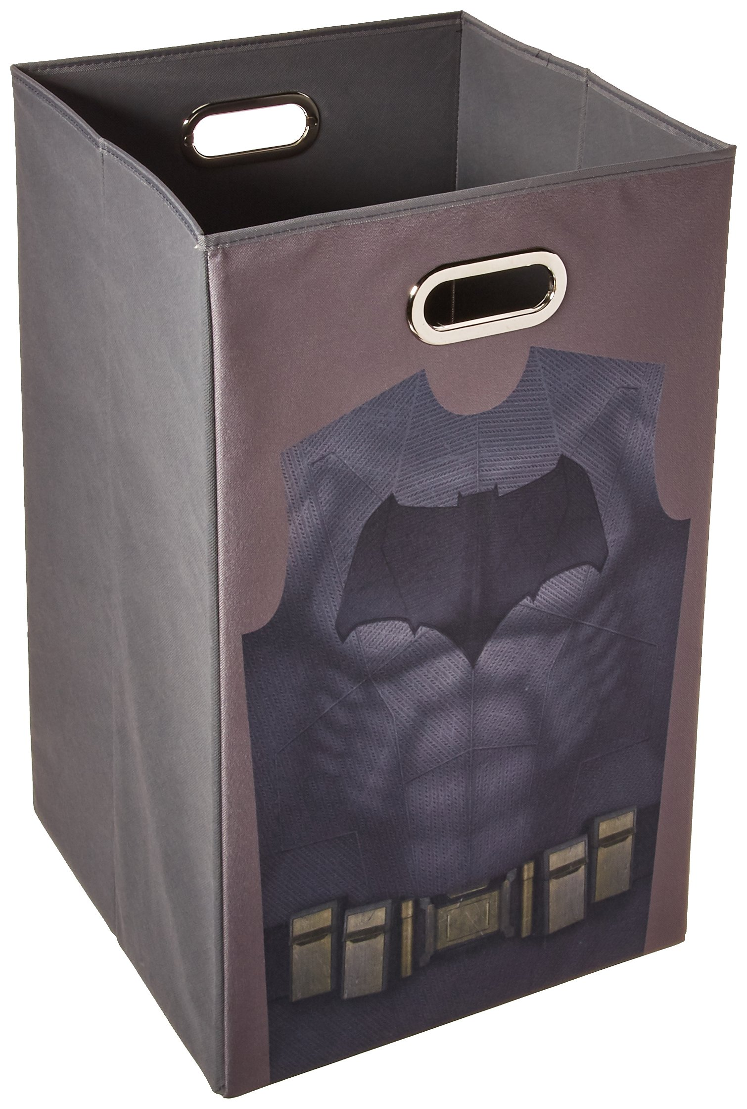 Modern Littles Batman vs Superman Grey Uniform Folding Laundry Bin by Modern Littles