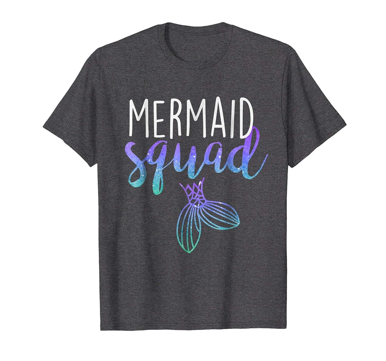 Mermaid Squad Mermaid Birthday Party Shirt-Bawle