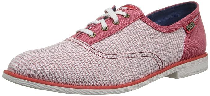 Keds Boyfriend Mujer Rojo Lona Mocasines Zapatos: Amazon.es: Ropa y accesorios