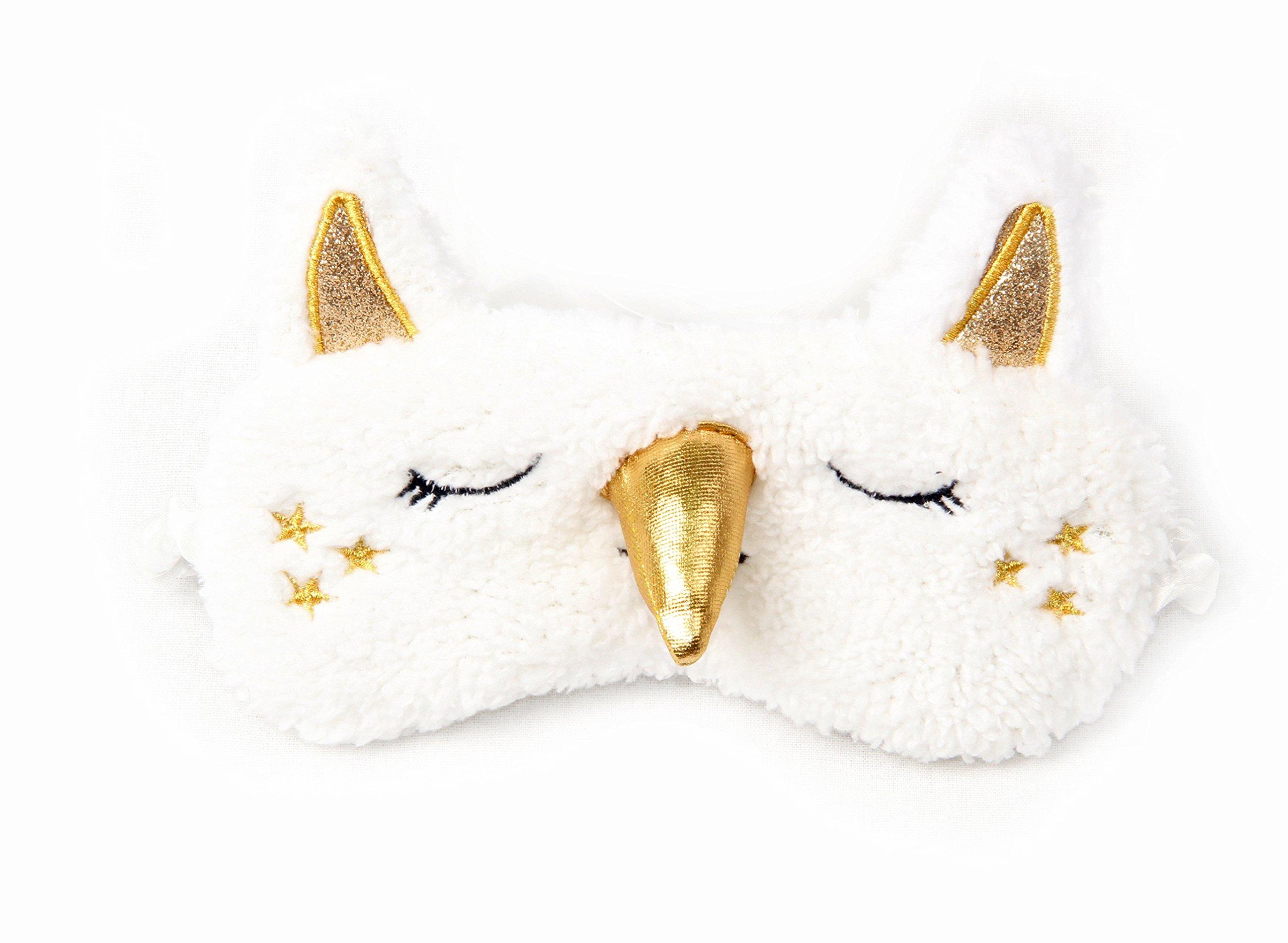 3 Pack Unicorn Sleep Mask Cute Unicorn Horn Soft Plush Blindfold Eye Cover Eyeshade for Teens Girls Women Plane Travel Nap Night Sleeping by OurSuperDeals (Image #2)