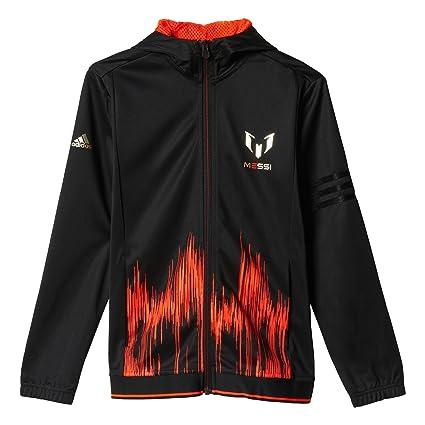 5bc8ef117 Amazon.com : adidas Messi Full Zip Jacket - Boys - Black/Solar Red ...