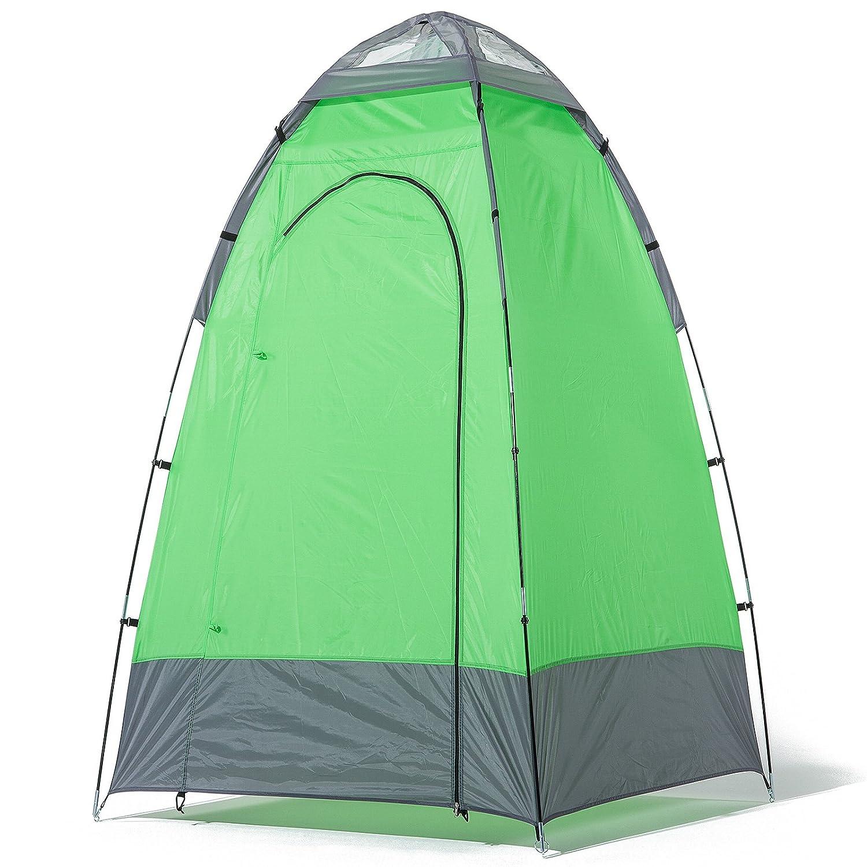skandika Cabina ducha camping - Cabina ducha de camping, color verde/gris, talla 130 x 130 x 210 cm 16047 16047_grün