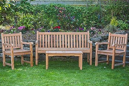 Groovy Solid Teak Garden Furniture Set Catherine Garden Bench Creativecarmelina Interior Chair Design Creativecarmelinacom