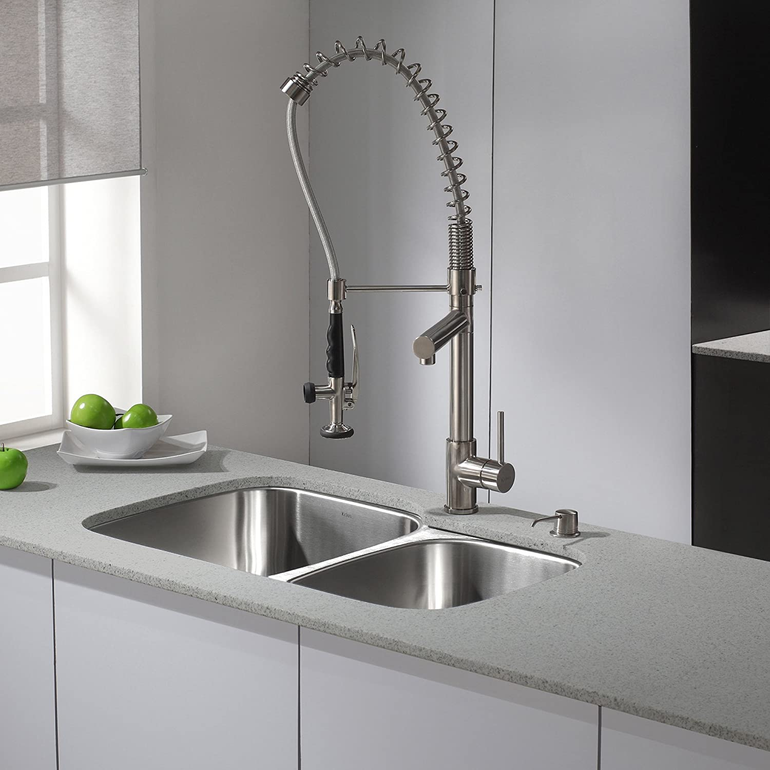 Kraus KPF-1602-KSD-30SS Single Handle Pull Down Kitchen Faucet ...