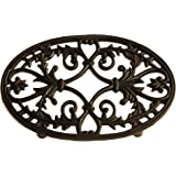 French Kitchen Collection Small Trivet Oval, Black