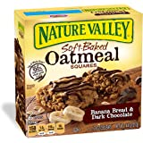 Nature Valley Soft-Baked Oatmeal Squares, Banana Bread and Dark Chocolate, 6 Count