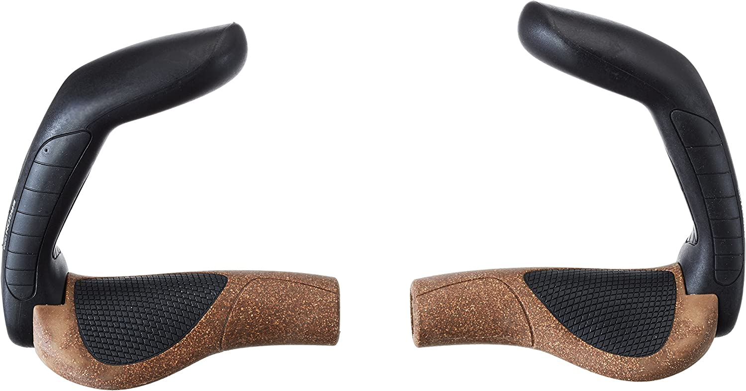 GP5 Ergonomic Handlebar Grips with Extended Bar End Support