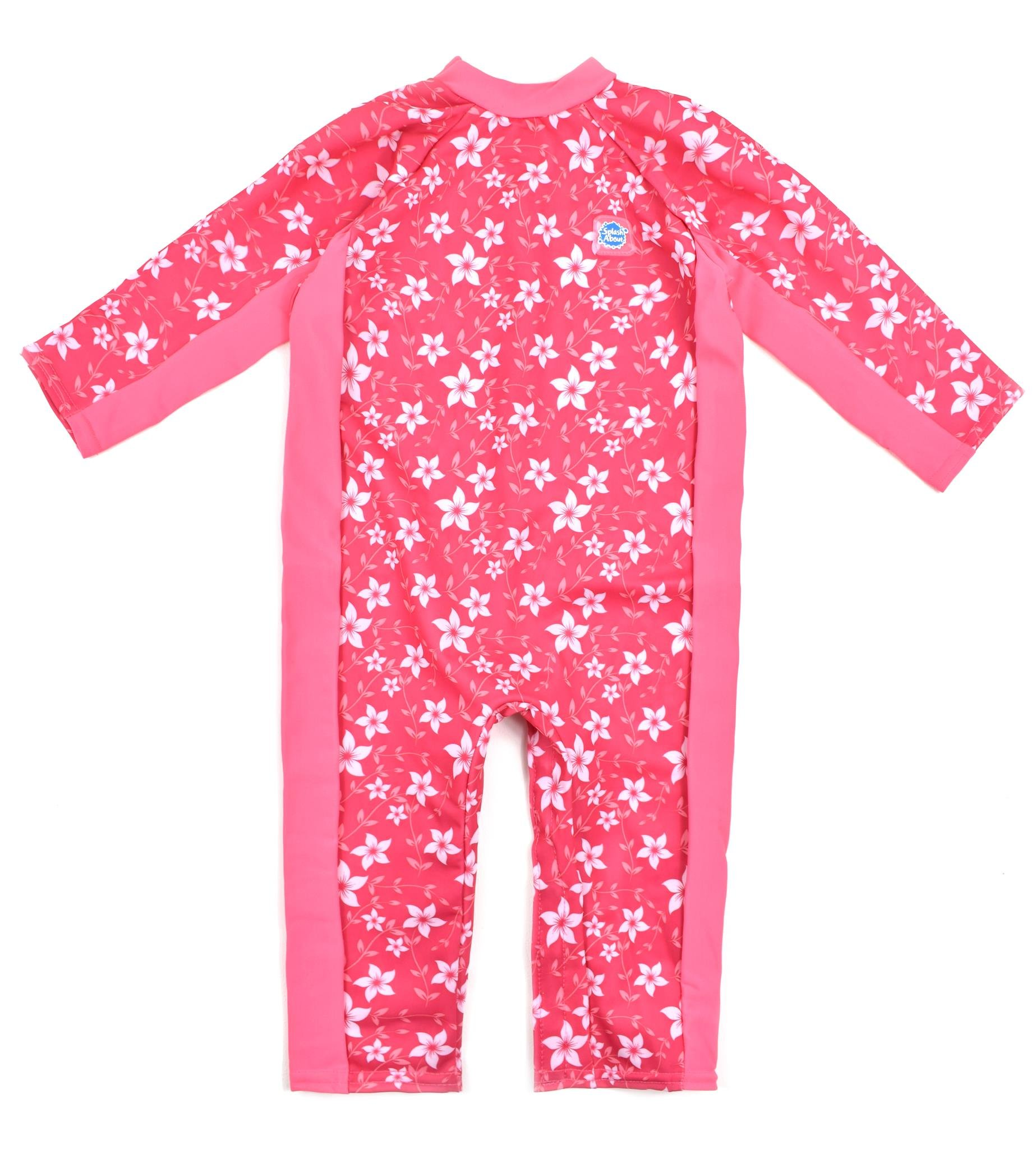 Splash About UV (SPF50+) Sun Protection All in One Suit/Eczema Suit, 6-12 Months (Chest: 59 cm, Length: 33 cm), Pink Blossom