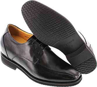 TOTO H8211-3.6 Inches Elevator Height Increase Black Bicycle Toe Oxford