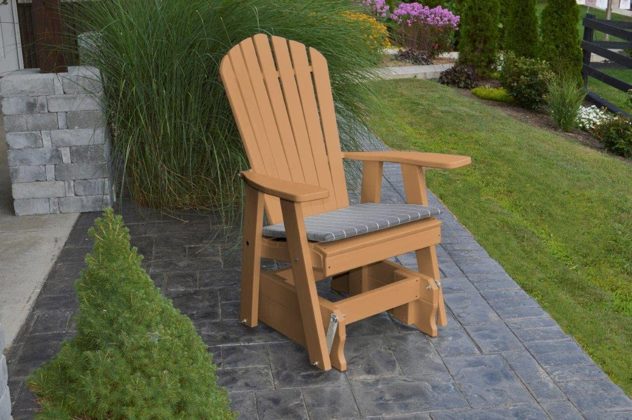 Outdoor Poly Adirondack Gliding Chair – Cedar