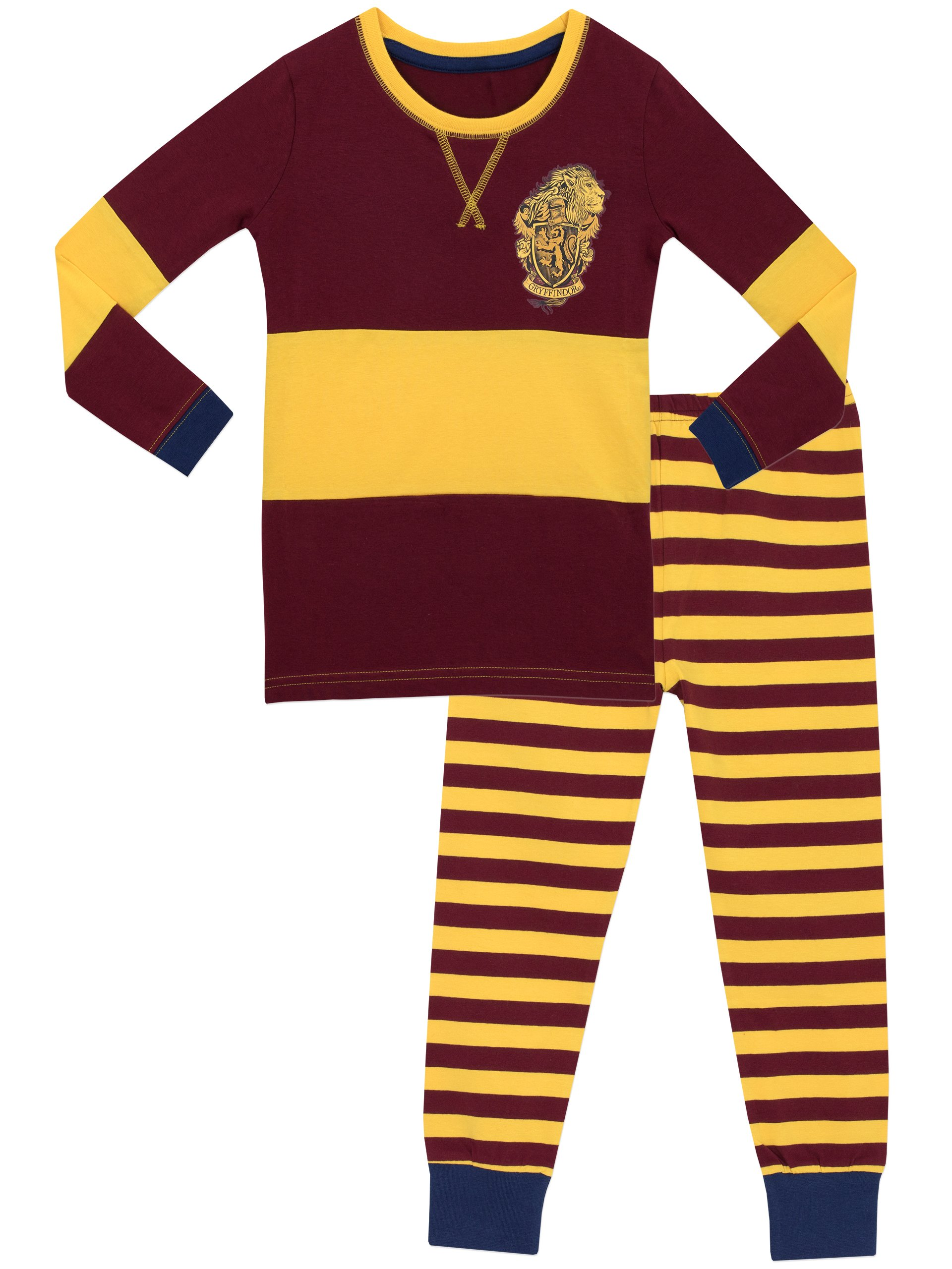 Harry Potter Girls' Gryffindor Pajamas Multicolored Size 10