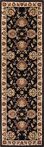 Well Woven Timeless Abbasi Black Traditional Area Rug 2 7 X 12 Runner