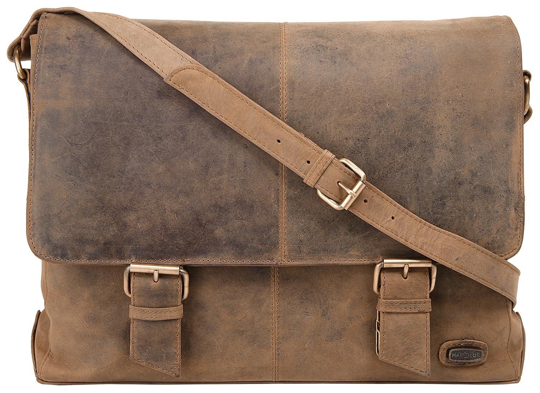 Harold's Kuriertasche 40 x 30 x 10 cm Rind-Leder Messenger Schulter-Tasche 339903 Harold' s 339903-05