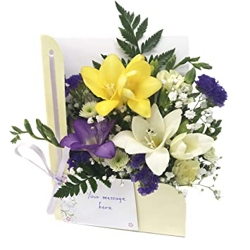 Flowers Delivered Freesia Flower Card