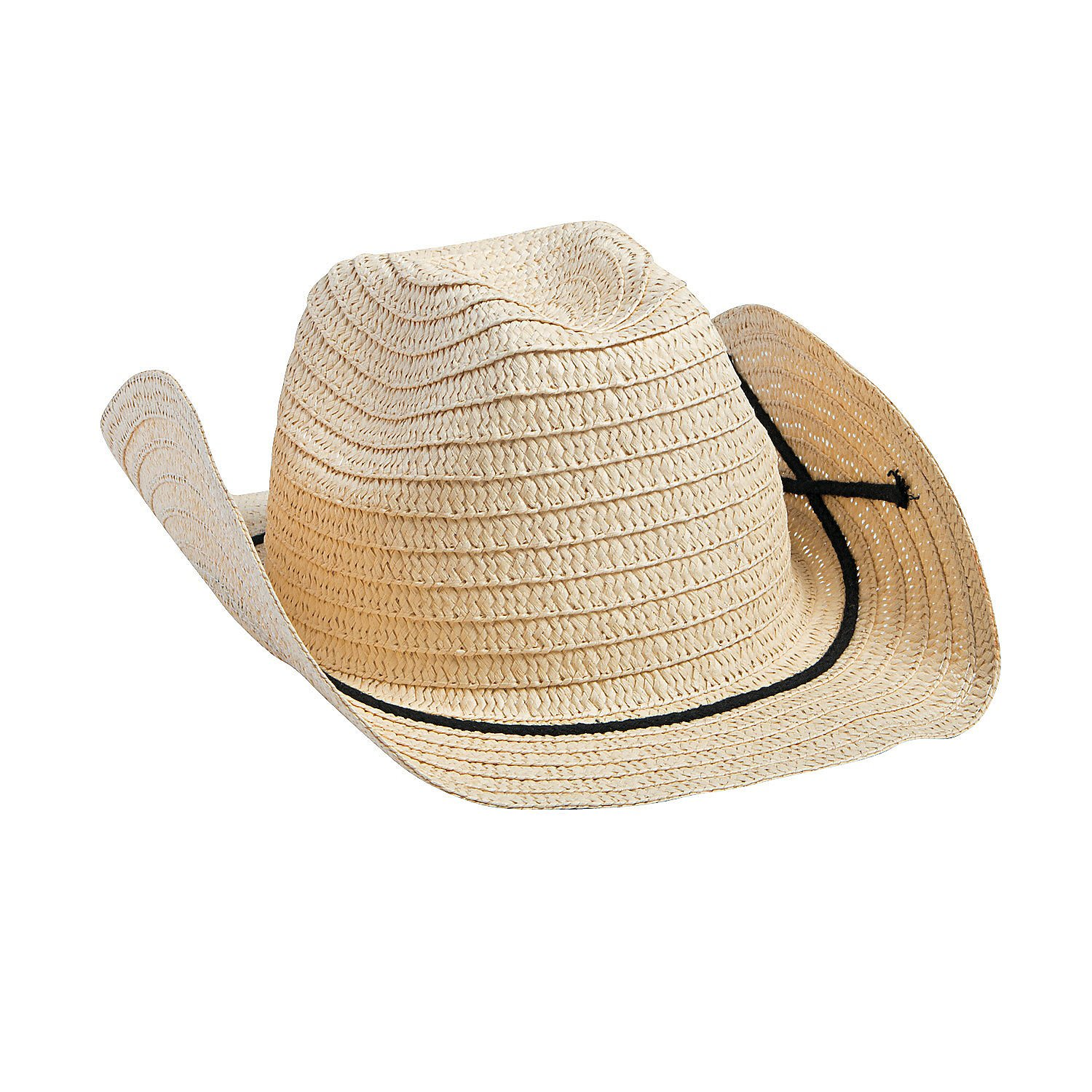 Fun Express Adult Cowboy Hats with Bands (Set of 12) Western Party Supplies by Fun Express