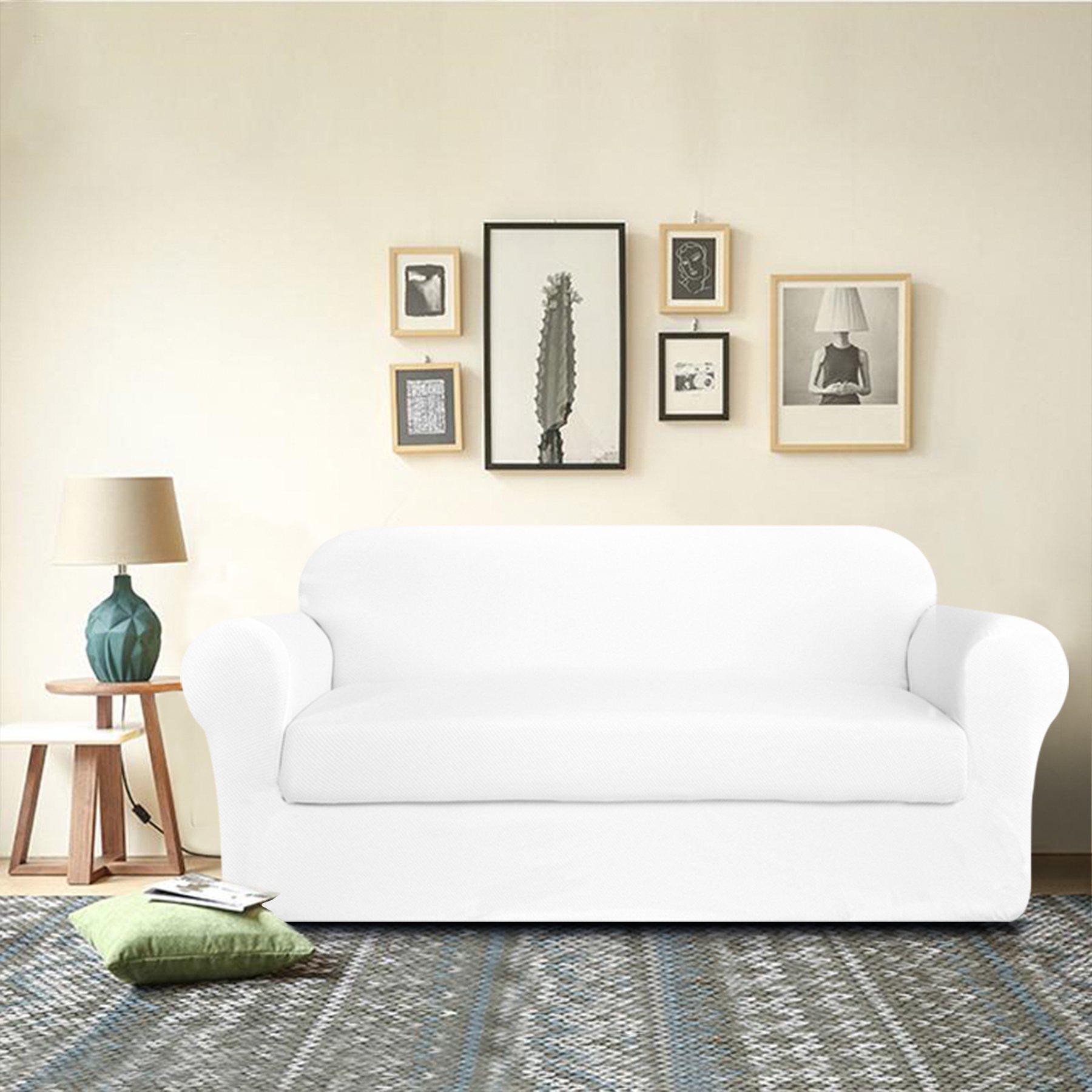 DyFun 2-Piece Knit Spandex Stretch Dining Room Sofa
