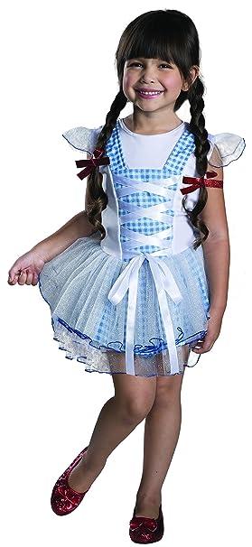 3edccaf37 Disfraz de Dorothy El Mago de Oz tutú para niña - 5-6 años: Amazon ...
