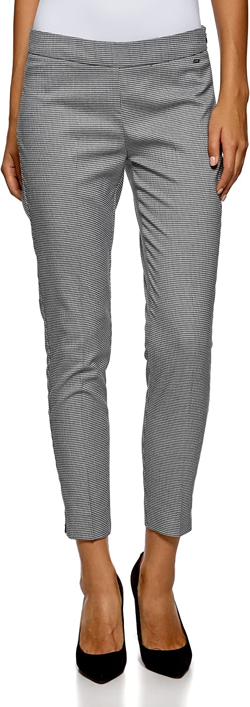 oodji Ultra Mujer Pantalones Ajustados con Cremalleras en Las Perneras