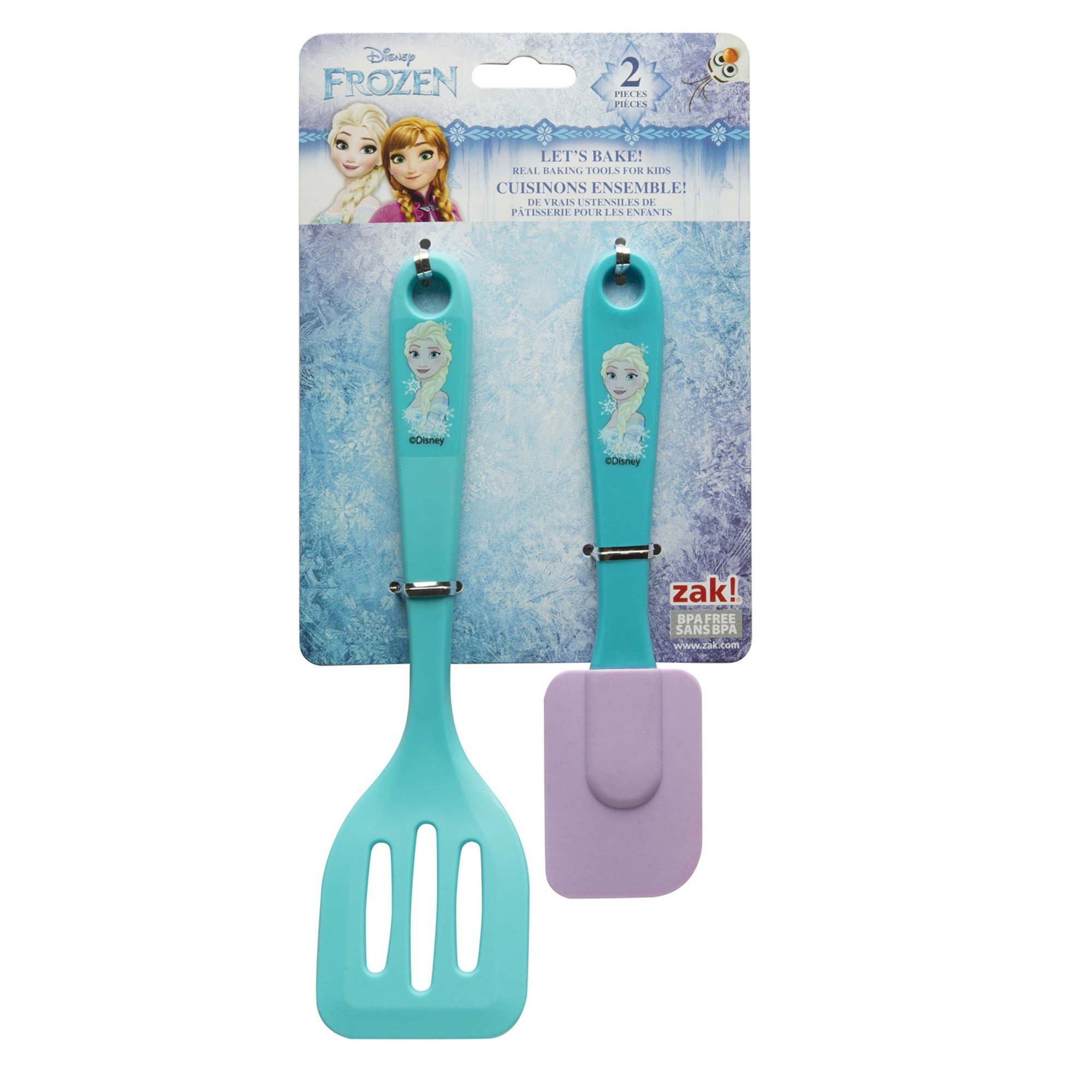 Zak Designs Lets Bake! Turner and Spatula for Cooking with Kids, Princess Elsa