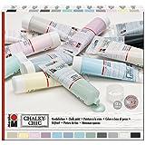 Marabu 261000000088 - Chalky Chic Kreidefarbe Set, Vintage Style, Shabby Chic, Landhausstil, Deckkraft, wetterfest für innen und außen, 12 x 100 ml Tuben