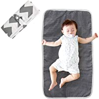 LEADSTAR Diaper Changing Mat,Waterproof Baby Nappy Changing Pad,Lightweight Portable Travel Changing Mat,Foldable Space…
