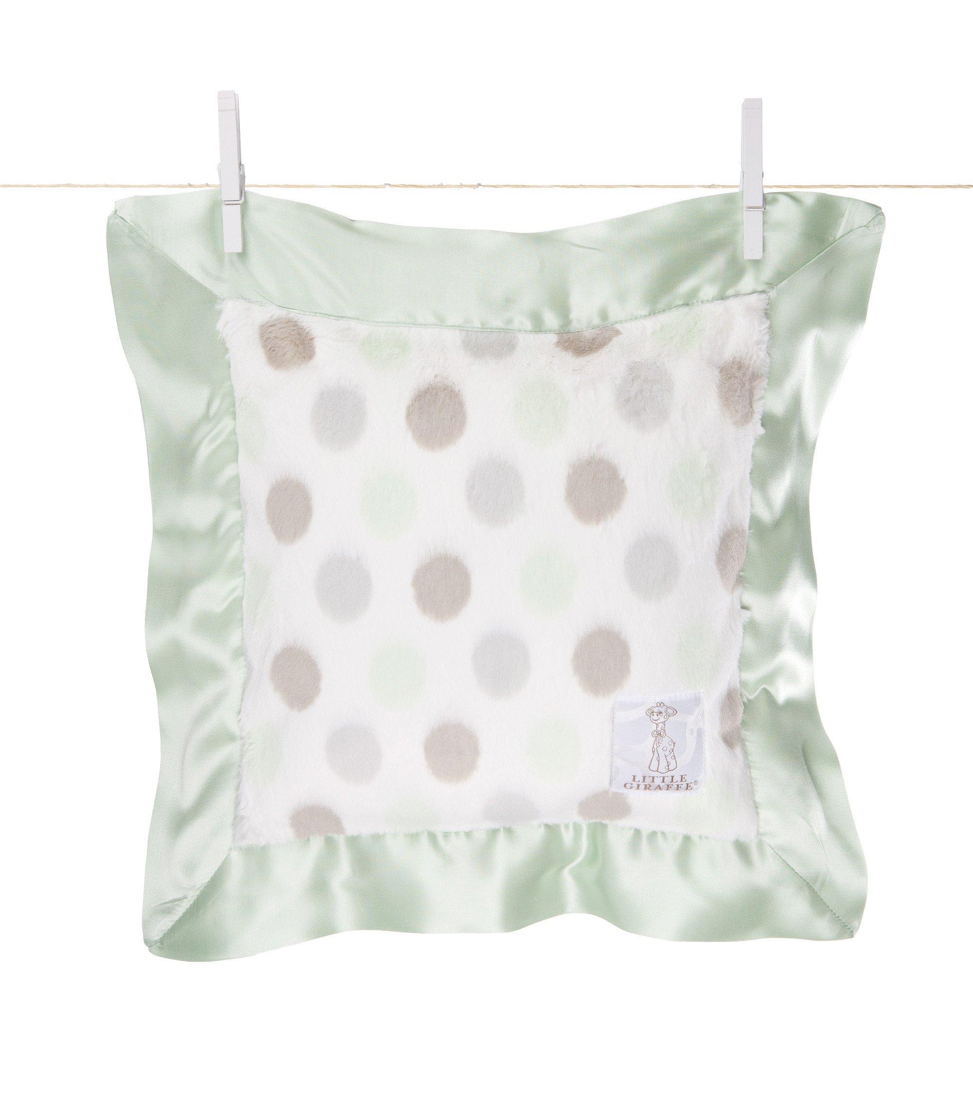 Little Giraffe Luxe Dot Pillow (celadon)