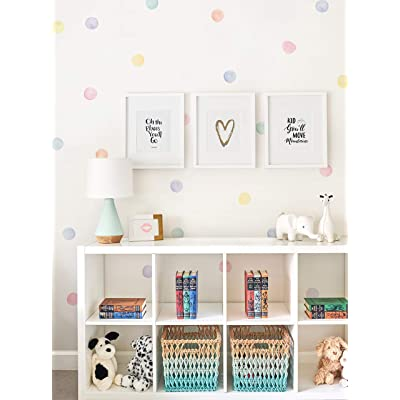 Simple Shapes Watercolor Dots Wall Stickers (Pastel): Baby