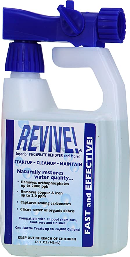 Amazon Com Revive Swimming Pool Phosphate And Algae Remover Chemical For Pools 32 Oz Garden Outdoor
