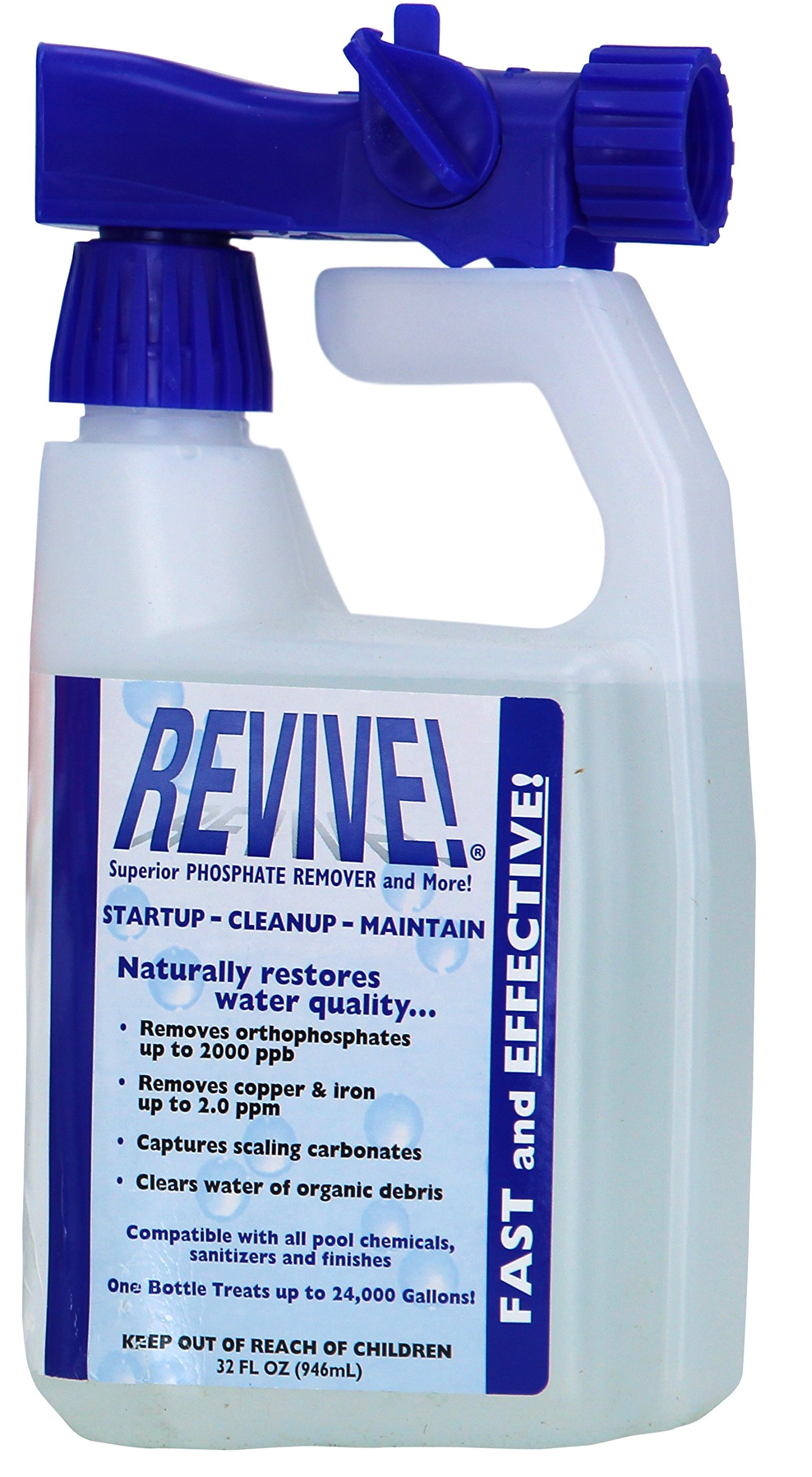 REVIVE! Swimming Pool Phosphate and Algae Remover Chemical For Pools - 32 oz by Revive