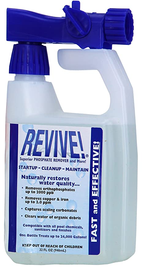 Amazoncom Revive Swimming Pool Phosphate And Algae Remover
