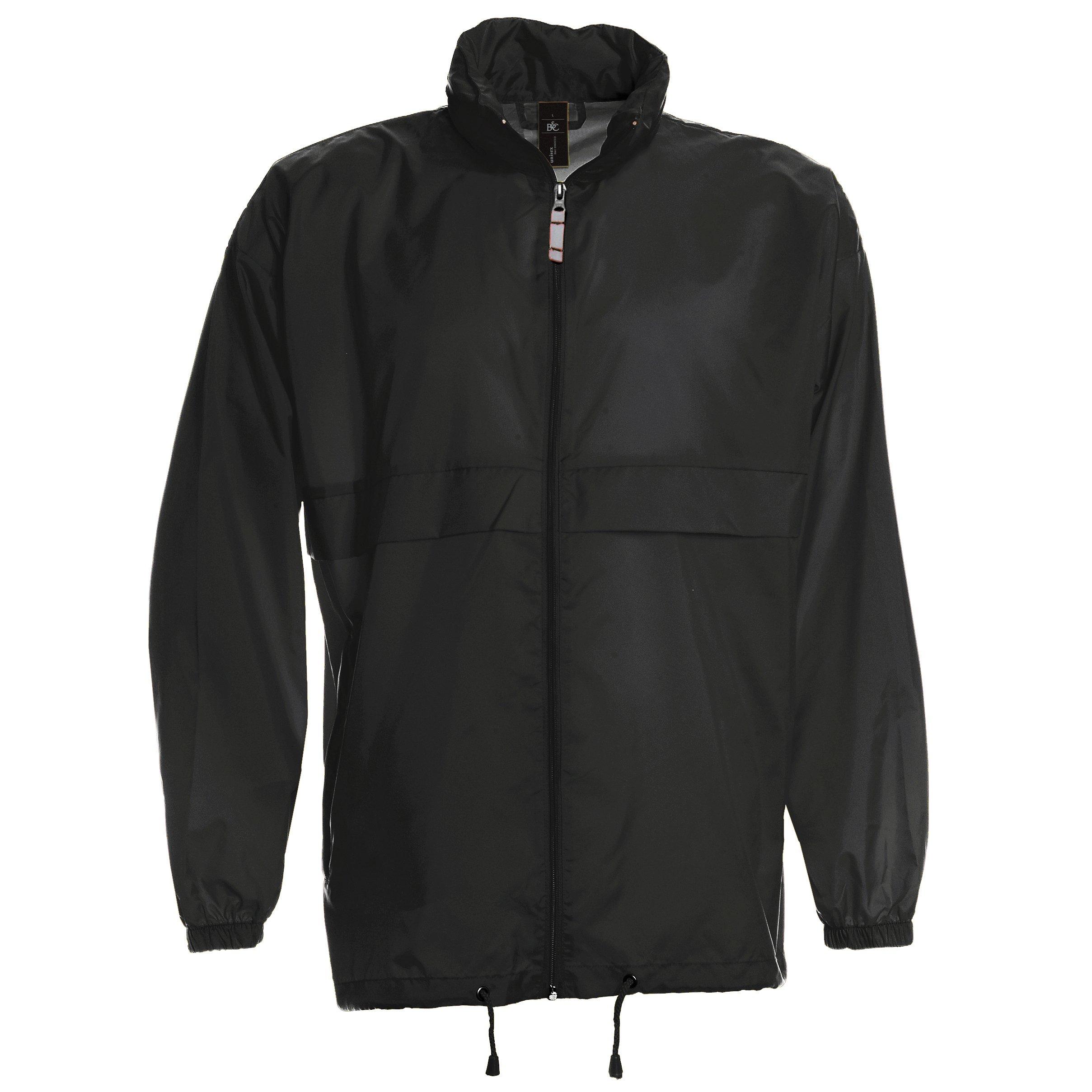 B&C Sirocco Mens Lightweight Jacket/Mens Outer Jackets (XXL) (Black)