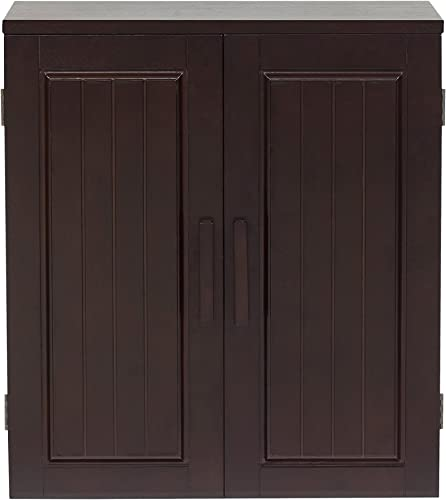 Elegant Home Fashions Catalina 2-Door Wall Cabinet in Dark Espresso