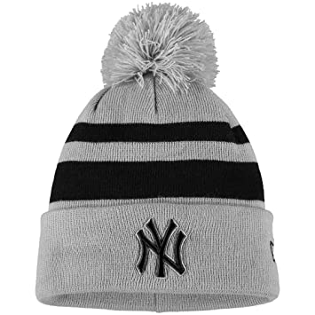 100% authentic 76300 46e61 official store mlb new york yankees new era rebound cuffed knit hat with  pom gray black