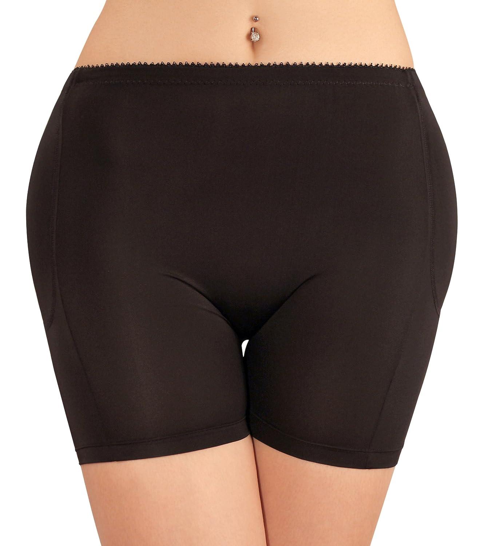 SodaCoda Women's 4-Padded Foam Hip and Butt Enhancer Panties- Tummy Control