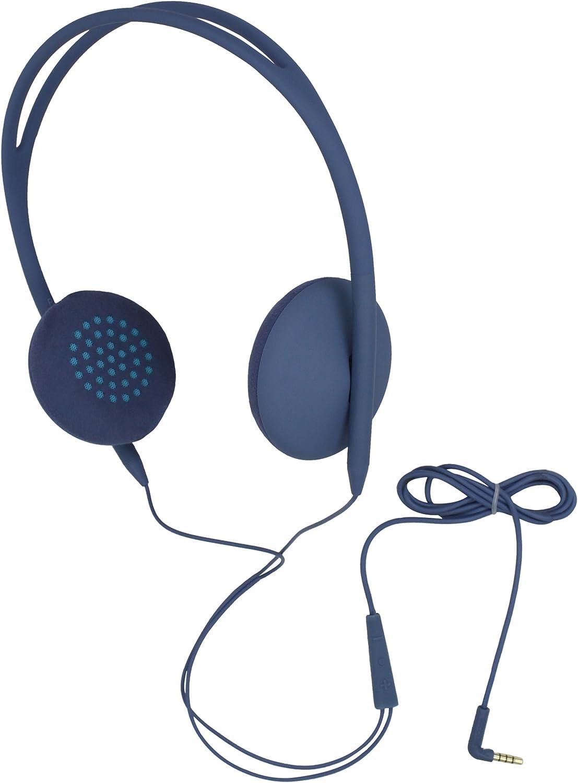 Incase Men's Pivot On-Ear Lite Headphones, Dove/Fluro Blue