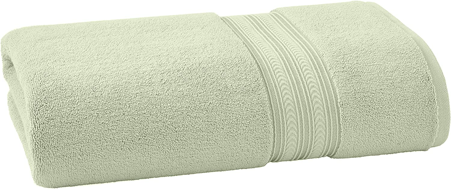 Better Homes & Gardens BHG Thick and Plush Solid Bath Sheet | Super Soft Cotton, Green Lily