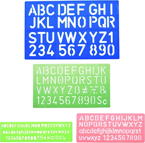 Amazon Com Bcp 4pcs Assorted Colors Plastic Letter And Alphabet