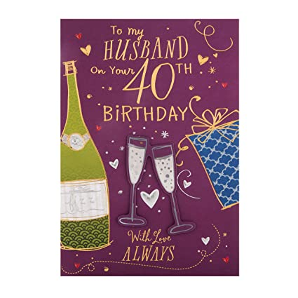 Hallmark - Tarjeta de felicitación de 40 cumpleaños para ...
