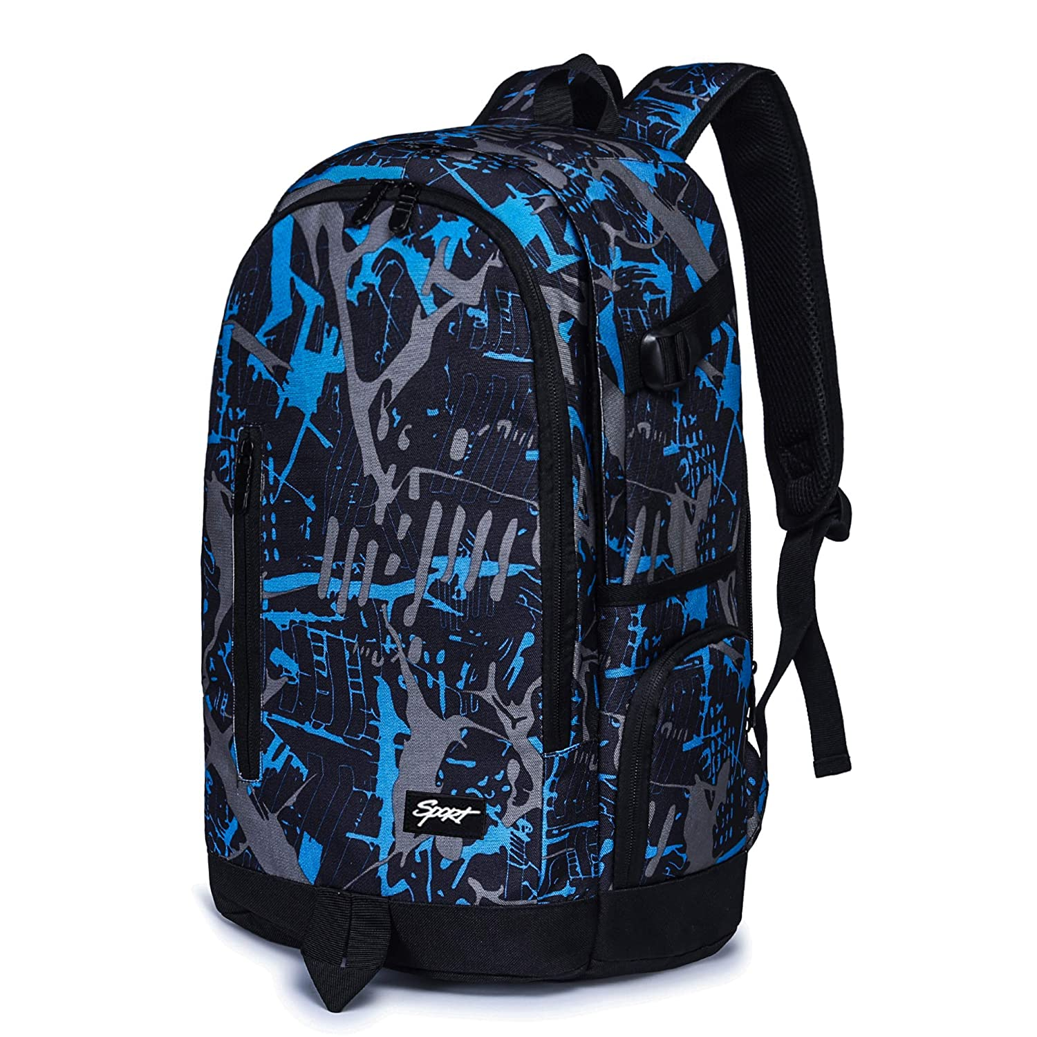 School Backpack, Ricky-H Lifestyle Travel Bag for Men & Women, Lightweight College Back Pack with Laptop Compartment