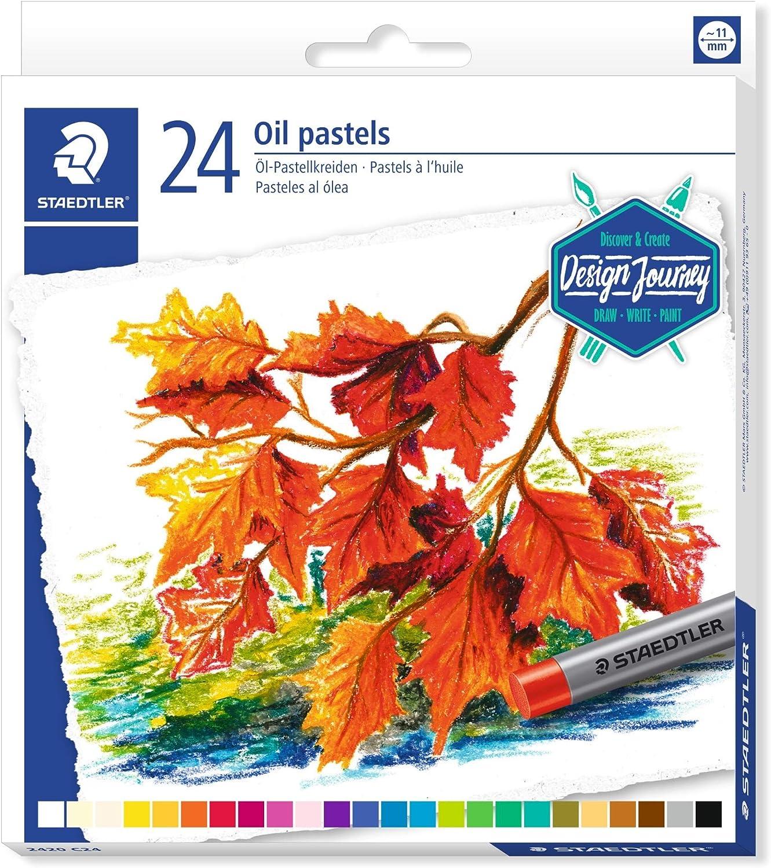 Staedtler Karat 2420 C24. Ceras de pastel al óleo. 24 pasteles al óleo de colores brillantes variados.: Amazon.es: Oficina y papelería