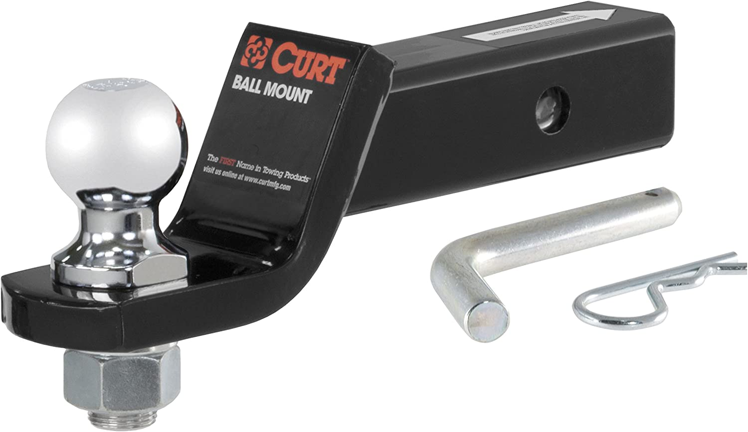 CURT Class 3 Hitch Tow Package with 2 Ball for 2014-2016 Toyota Highlander