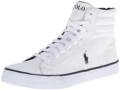 Polo Ralph Lauren Men's Bawtry Fashion Sneaker,Pure White,13 ...