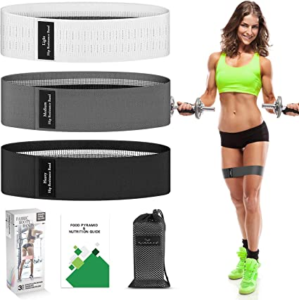 Resistance Loop Bands Exercise Yoga Fitness Gym Glute Training Home Workout