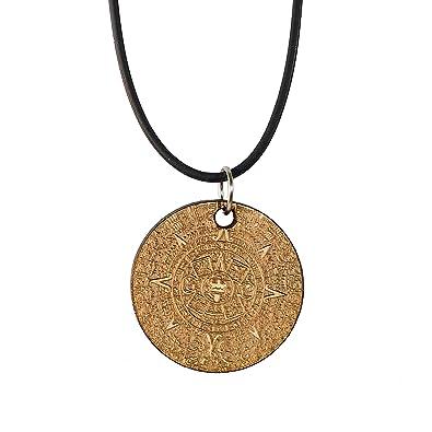 Amazon aztec calendar necklace wood strands of beads jewelry aloadofball Images
