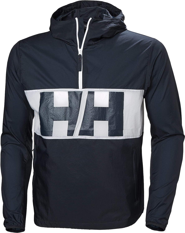 Marine - Blanc L Helly Hansen Active Anorak Coupe-Vent Homme, Navy 2019 Veste